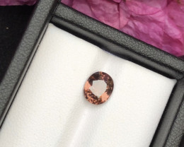 Top Grade 2.05 ct lovely Zircon Peach Color Ring Size