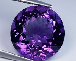 10.42 ct  Top Quality Gem  Round Cut Natural Purple Amethyst