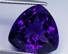 11.45 ct  Top Quality Gem Triangle Cut Natural Purple Amethyst