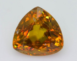 Rare AAA Fire 1.95 ct Imperial Sphene Ring Size