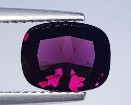 2.43 ct Top Quality Cushion Cut Natural Pink Rhodolite Garnet
