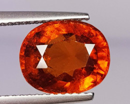 4.16 ct  AAA Grade Gem Oval Cut Natural Hessonite Garnet