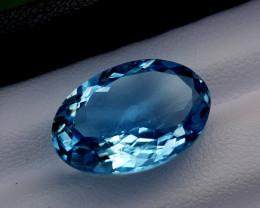 12.85crt blue topaz Natural Gemstones JI64