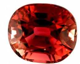 5.20(ct) Unusual Red/Orangish Color Top Luster & Perfect Cut Congo Tourmali