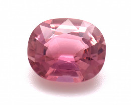 3.30(ct) Seductive Pink Tourmaline Top Luster Perfect Cut Faceted Gem