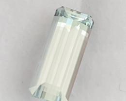 Pretty White (Colorless) Elongated Emerald Cut Aquamarine