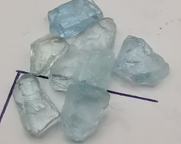 Aquamarines, 10.8ct, beautiful gemstones you may be able to shape!