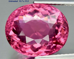 9.51ct Rubellite Tourmaline - Lollipop color / V Beautiful/13.7 x 11.5 mm