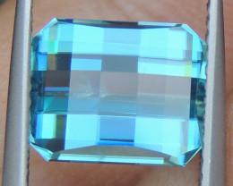 6.00cts Pixel Cut Blue Zircon