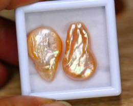 27.51ct Natural Australia South Sea Keshi Pearl Freeform Pearl Lot GW8938