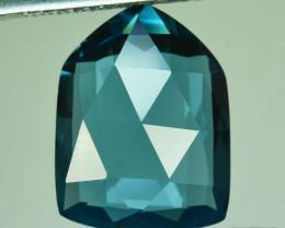~CUSTOM CUT~ 11.35 Cts Natural Blue Topaz Fancy Fancy Cut USA