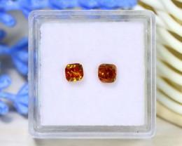 0.84Ct 2Pcs Orange Diamond Untreated Genuine Fancy Diamond A1426