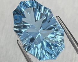12.14 Cts Fancy Cut Top Quality Natural Blue Topaz