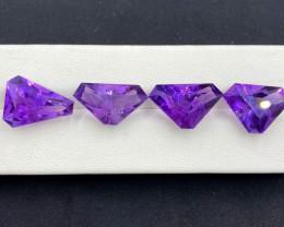 Amethyst, 29.80 Cts Natural Top Color & Cut Amethyst Gemstones