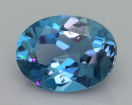 Top Quality 2.10 ct Ocean Blue  London Topaz Ring Size