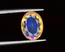 1.50 ct Ethiopian Opal with Blue & Green Fire