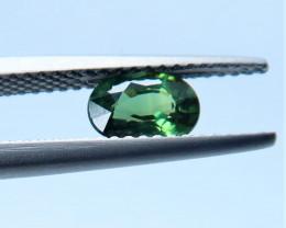 Unheated green Sapphire.