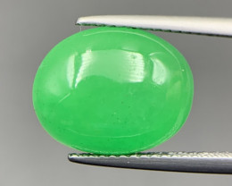 6.85 Cts Excellent Type B Green Jadeite Cabochon. Jd-59825
