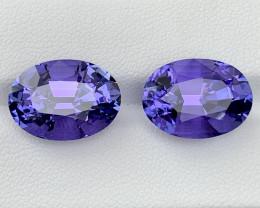 24.69 fancy carat Natural Tanzanite pair.