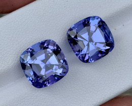 13.88 carat Natural Tanzanite Pair.