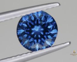 Striking Round Brilliant Fancy Blue Diamond