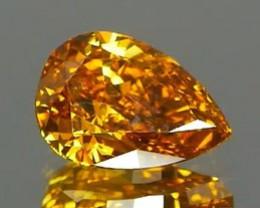 IGI Certified Natural Fancy Yellow Diamond 0.35Ct NO TREATMENT
