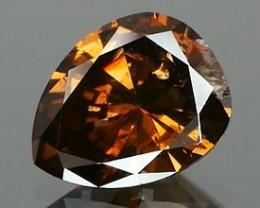 *NR* Nutmeg Brown Fancy Diamond 0.67Ct NO TREATMENT