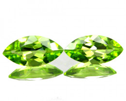 3.53Cts Genuine Excellent Natural Peridot 12x6mm Marquise Matching Pair REF