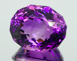 * NR* Huge 96.99Ct Amethyst for the Admirer Modern Oval Cut