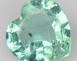 No Reserve Emerald 0.64 Cts Green Color Colombian Natural