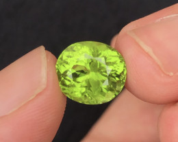 Peridot 5.60 Ct Natural Amazing Color, Top Quality~ A