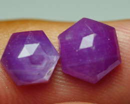 4.985 CRT PAIR BEAUTIFUL FACETED AMAZING MADAGASCAR RUBY -