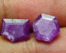 6.640 CRT PAIR BEAUTIFUL FACETED AMAZING MADAGASCAR RUBY -