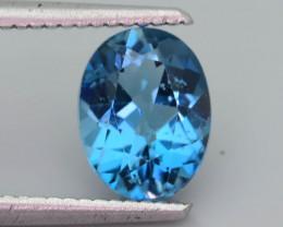 Ocean Blue  2.15 ct London Blue Topaz Ring Size