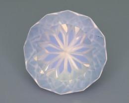 Class Piece Rare Peach Pink 16.95 ct Moonstone ~Flower Cut