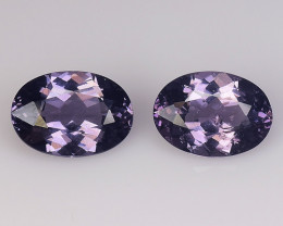 Spinel 1.61 Cts 2Pcs Unheated Purple Color Natural Gemstone