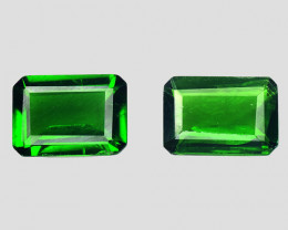 Chrome Diopside 1.72 Cts 2Pcs Natural Green Color Gemstone