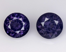 Spinel 1.34 Cts 2Pcs Pair Unheated Purple Color Natural Gemstone