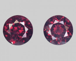 Spinel 1.13 Cts 2Pcs Unheated Red Color Natural Gemstone Pair