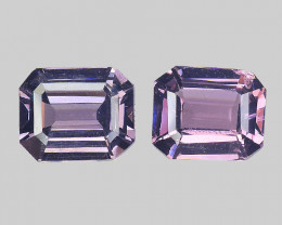 Burma Pair Spinel 1.52 Cts 2Pcs Unheated Light Pink Color Natural Gemstone