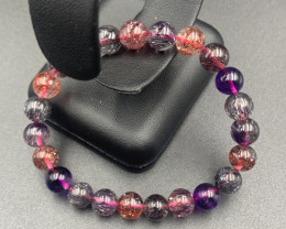 89.15 Cts AAAAA Quality Super Seven Beads Bracelet.