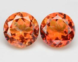 *NoReserve*Mystic Topaz 7.59 Cts 2Pcs Rare Orange Red Color Natural