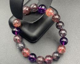 157.2 Cts  AAAA Premium Quality Super Seven Beads Bracelet.
