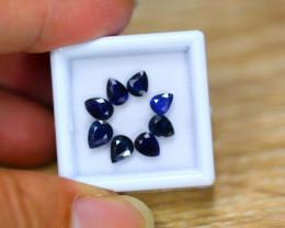 3.68ct Natural Blue Sapphire Pear Cut Lot GW8969
