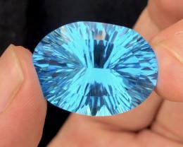 Amazing Laser Cut 40.40 Ct Natural Swiss Blue Color Topaz
