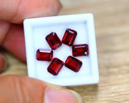 7.98ct Natural Rhodolite Garnet Octagon Cut Lot V7665