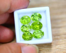 11.48ct Natural Green Peridot Oval Cut Lot V7668