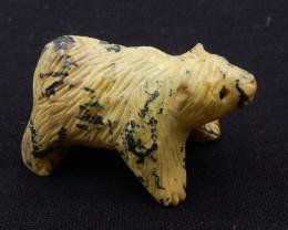 P0315 - 202.5ct Natural Serpentine Bear Gemstone Carving,Hand Carved Bear