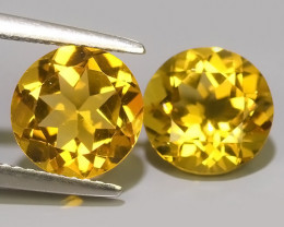 5.70 Cts Ravishing Natural Golden~Yellow Citrine Round Cut Gemstone!!