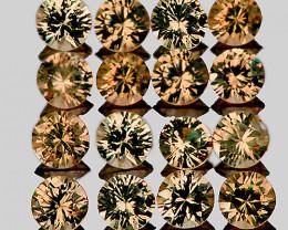 1.80 mm Round Machine Cut 30 pcs 0.93ct Golden Champagne Sapphire [VVS]